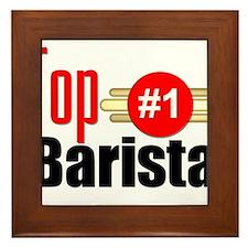 Top Barista Framed Tile