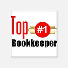 "Top Bookkeeper Square Sticker 3"" x 3"""