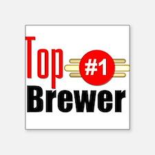 "Top Brewer Square Sticker 3"" x 3"""