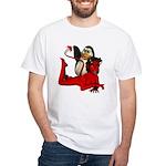 Sir Spanks Alot White T-Shirt