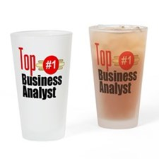 Top Business Analyst Drinking Glass