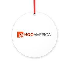 NGO America Ornament (Round)