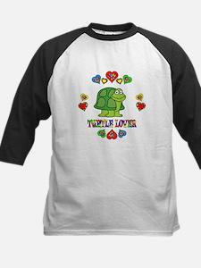 Turtle Lover Kids Baseball Jersey