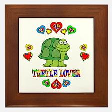 Turtle Lover Framed Tile