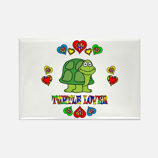 Turtle Lover Rectangle Magnet