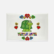 Turtle Lover Rectangle Magnet (100 pack)