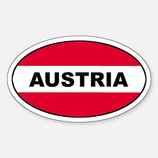 Austrian Oval Flag on Oval Decal