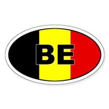 Belgium Flag Oval Decal