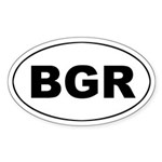 Bulgaria (BGR) Oval Sticker