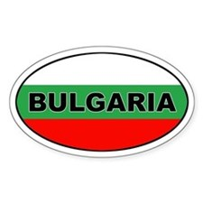 Bulgarian Flag Oval Decal