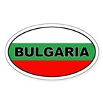 Bulgarian Flag Oval Sticker