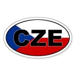 Czech Republic (CZE) Oval Sticker