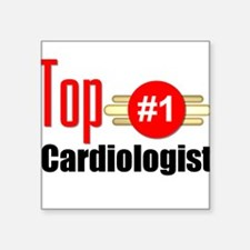"Top Cardiologist Square Sticker 3"" x 3"""