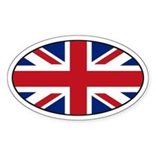 United Kingdom (UK) Flag Oval Decal