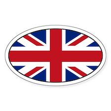 United Kingdom (UK) Flag Oval Decal