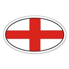 Oval England Oval Decal