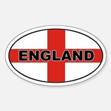 Oval England Oval Bumper Stickers