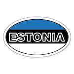 Estonian Flag Oval Sticker