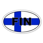 Finnish / Finland (FIN) Flag Oval Sticker