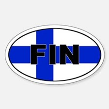 Finnish / Finland (FIN) Flag Oval Decal