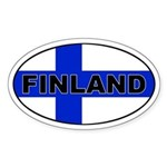 Finland / Finnish Flag Oval Sticker