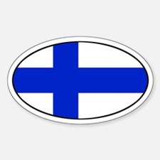 Finland / Finnish Flag Oval Decal