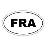France / French (FRA_ Oval Sticker