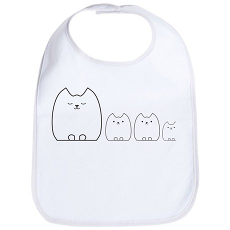 Carly Cat and her kittens Bib