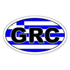 Greek / Greece (GRC) Oval Decal