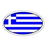 Greek Flag Oval Sticker