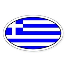 Greek Flag Oval Decal