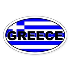 Greek / Greece Flag Oval Decal