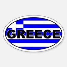 Greek / Greece Flag Oval Decal