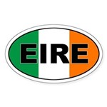 Irish (EIRE) Flag Oval Sticker