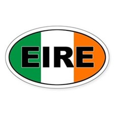 Irish (EIRE) Flag Oval Bumper Stickers