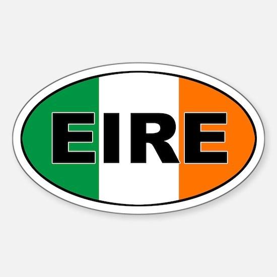 Irish (EIRE) Flag Oval Decal