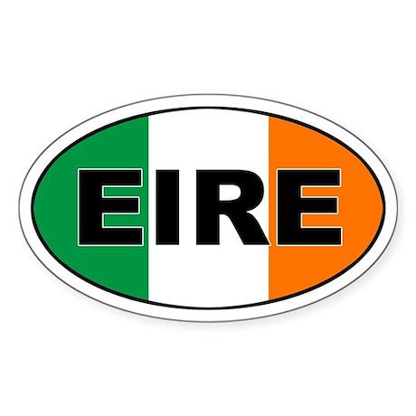 Irish (EIRE) Flag Oval Sticker
