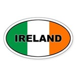 Flag of Ireland Oval Sticker