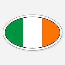 Irish Flag Oval Decal