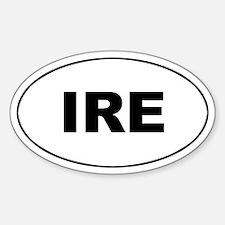 Irish (IRE) Oval Decal