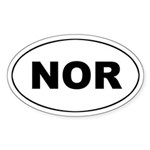 Norway (NOR) Oval Sticker