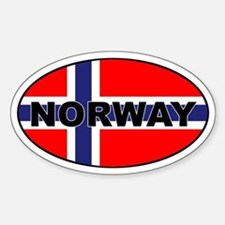 Norway (NOR) Flag Oval Decal