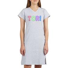 Tori Rainbow Pastel Women's Nightshirt