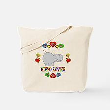 Hippo Lover Tote Bag