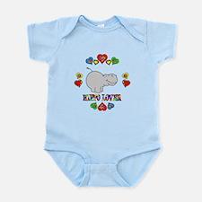 Hippo Lover Infant Bodysuit