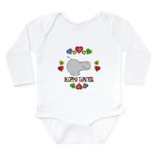 Hippo Lover Long Sleeve Infant Bodysuit