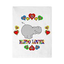 Hippo Lover Twin Duvet