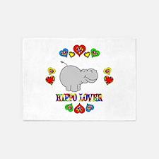 Hippo Lover 5'x7'Area Rug