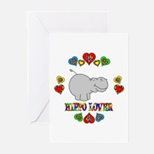 Hippo Lover Greeting Cards (Pk of 10)