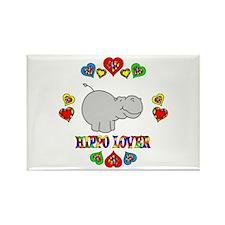 Hippo Lover Rectangle Magnet